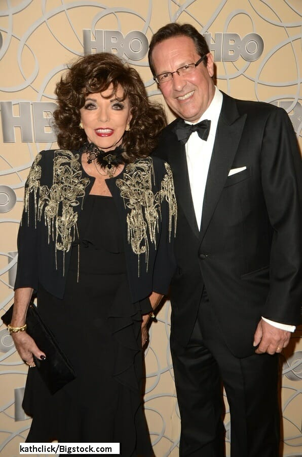 Percy Gibson And Joan Collins Says Her Husband Is Fine With