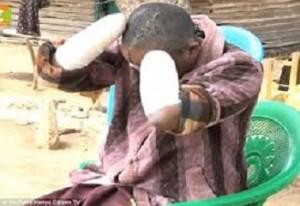 Kenyan man hacks wife's hands off