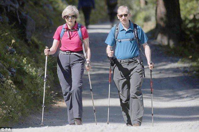 Theresa May on holiday