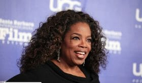 Oprah Winfrey invokes the spirits of her ancestors in a powerful speech on aspiration and dreaming big
