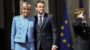 Emmanuel Macron and is wife