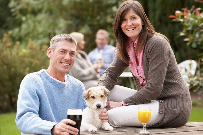 Childless couple with dog