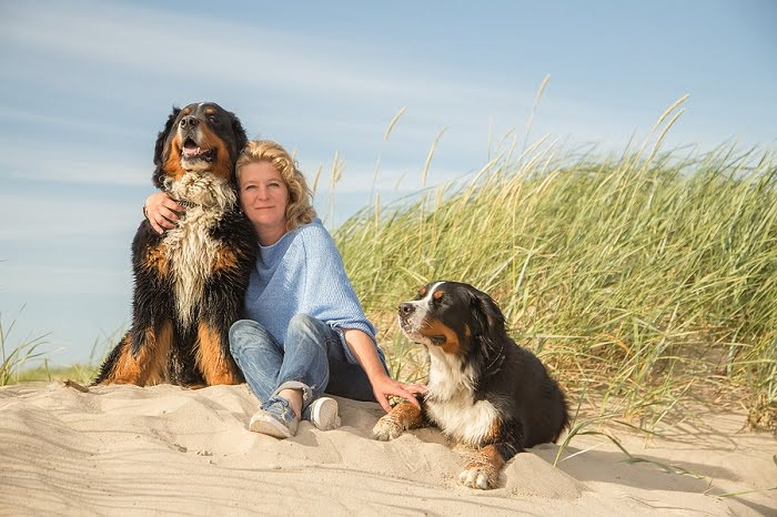 Childless woman with dogs