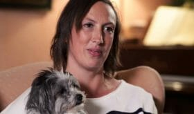 Actress and Comedian Miranda Hart credits her dog with helping her beat depression after her relationship ended