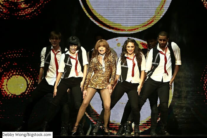 Paula Abdul secara konsert